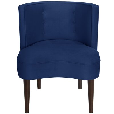 Malabar Barrel Chair Upholstery: Velvet Royal/Navy