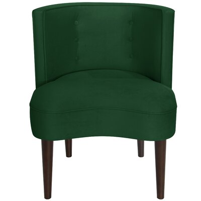 Malabar Barrel Chair Upholstery: Fauxmo Emerald