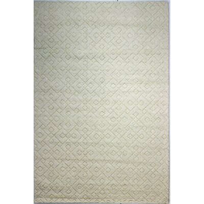 Guadeloupe Hand-Woven Ivory Area Rug Rug Size: Rectangle 5 x 76