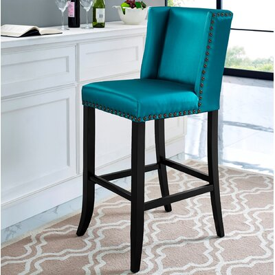 Duggins 26 Bar Stool with Wood Frame