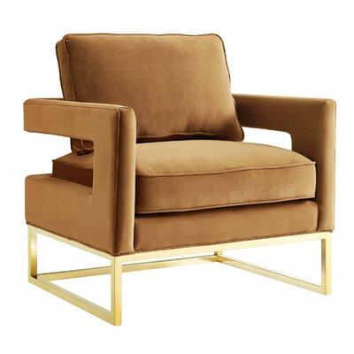 Candace Cognac Velvet Chair