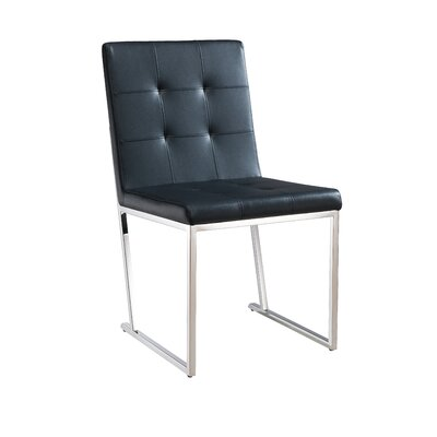 Brookmount Side Chair Upholstery: Black