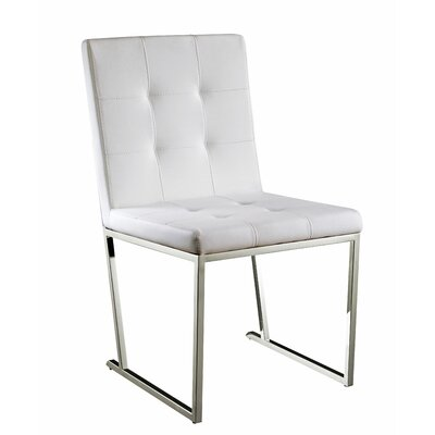 Brookmount Side Chair Upholstery: White
