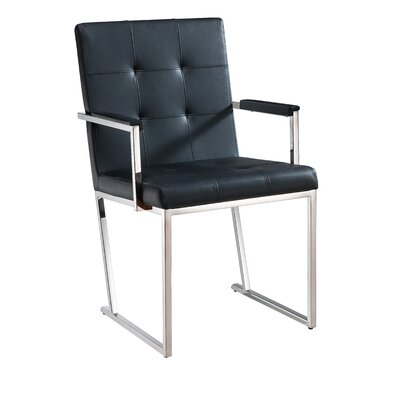 Brookmount Arm Chair Upholstery: Black
