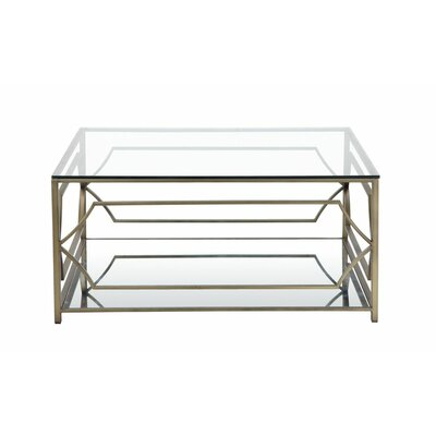 George Coffee Table Color: Brass