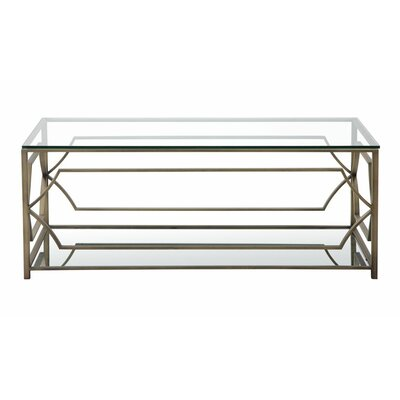 George Rectangle Coffee Table Color: Brass