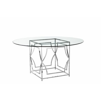George Dining Table Finish: High Polish Steel