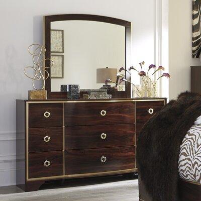 Bevis 9 Drawer Dresser with Mirror