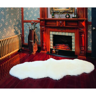 Edoardo Sheepskin Natural Area Rug Rug Size: Rectangle 311 x 53