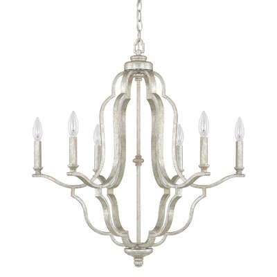 Hamlin 6-Light Candle-Style Chandelier