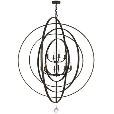 Fitzhugh 10-Light Globe Pendant Finish: English Bronze