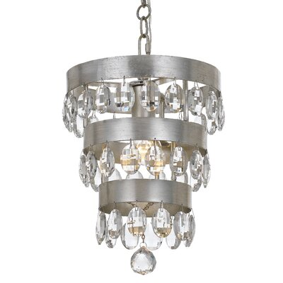 Opal 3-Light Crystal Chandelier
