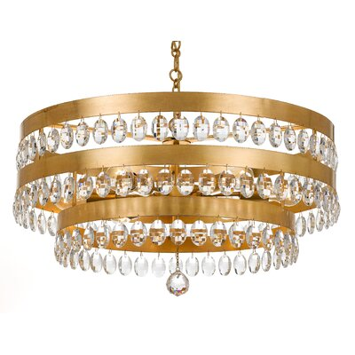 Opal 6-Light Crystal Chandelier