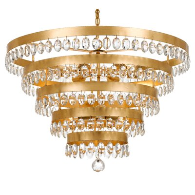 Opal 9-Light Crystal Chandelier