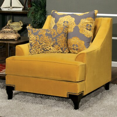Lyla Premium Armchair Upholstery: Gold