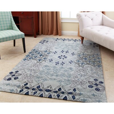 Lesterny Hand-Tufted Light Blue Area Rug Rug Size: 5 x 8