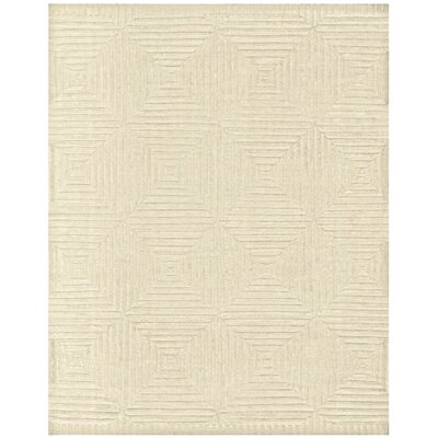 Lapis Hand-Knotted Ivory Area Rug Rug Size: Rectangle 79 x 99