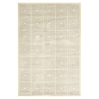 Bosse Hand-Loomed Cream Area Rug Rug Size: Rectangle 5 x 8