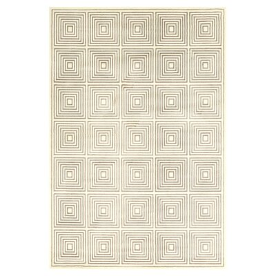 Sepia Hand-Loomed Cream Area Rug Rug Size: Runner 210 x 710