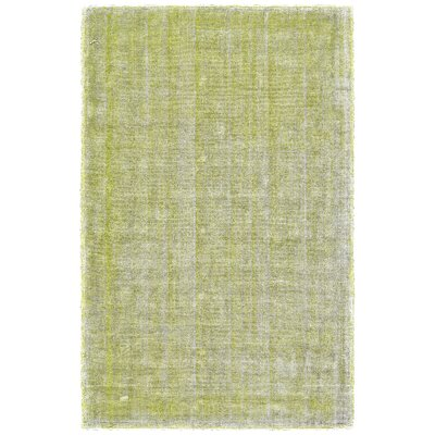 Kingston Hand Woven Cotton Lime/White Area Rug Rug Size: Rectangle 36 x 56