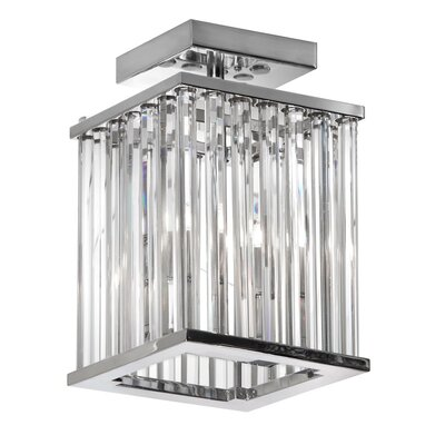 Dru Contemporary 2-Light Semi Flush Mount