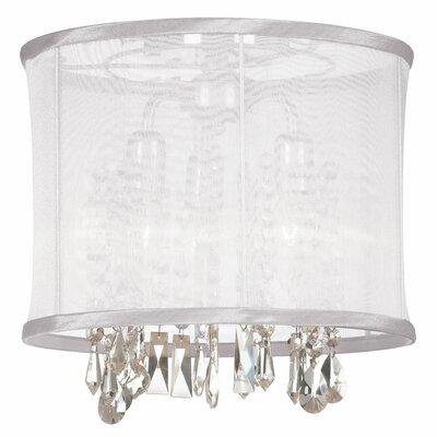Lydney 3-Light Semi-Flush Mount Shade color: White