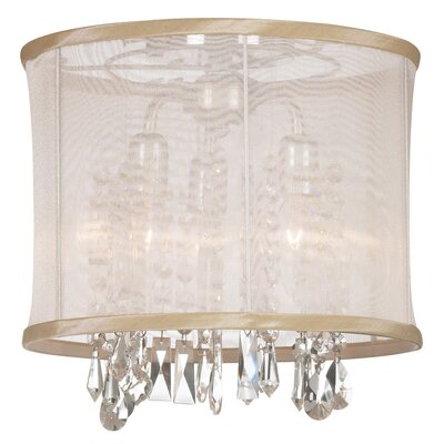 Lydney 3-Light Semi-Flush Mount Shade color: Oyster