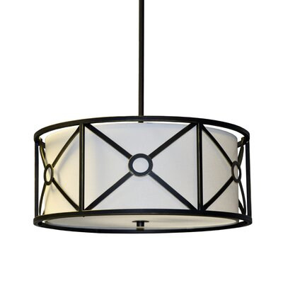 Ferrell 3-Light Drum Pendant Finish: Vintage Oiled Bronze