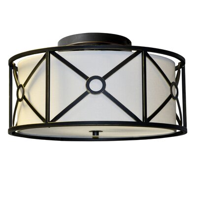 Ferrell 4-Light Flush Mount Finish: Vintage Oiled Bronze