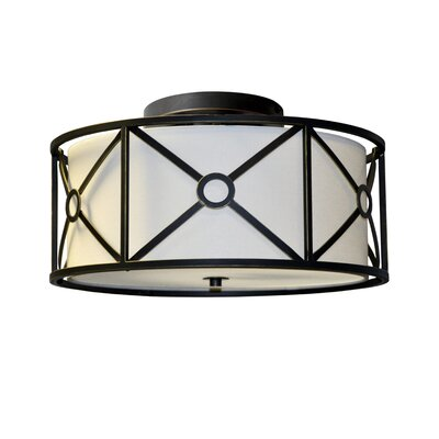 Ferrell 3-Light Flush Mount Finish: Vintage Oiled Bronze