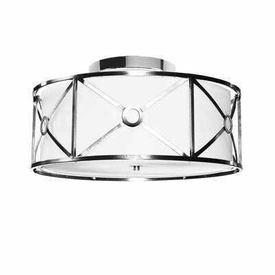 Ferrell 3-Light Flush Mount Finish: Polished Chrome