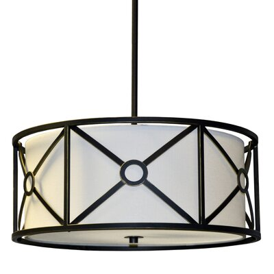 Ferrell 1-Light Drum Pendant Finish: Vintage Oiled Bronze