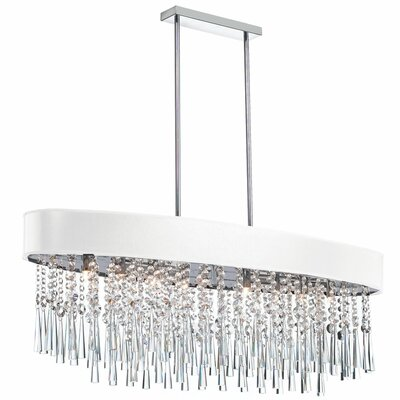 Louth 8-Light Crystal Chandelier Shade Color: White