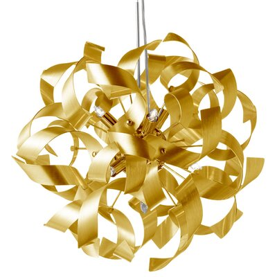 Jayne 9-Light Pendant Color: Gold