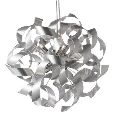 Jayne 9-Light Pendant Color: Silver