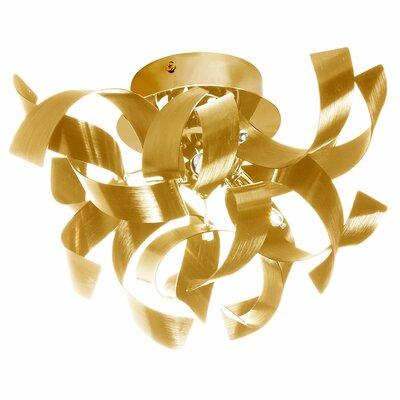 Fosse 3-Light Semi Flush Mount Finish: Gold