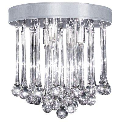 Durand 4-Light Flush Mount Shade Color: Silver