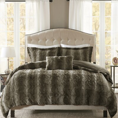 Atkins 4 Piece Duvet Set Size: Full/Queen, Color: Chocolate