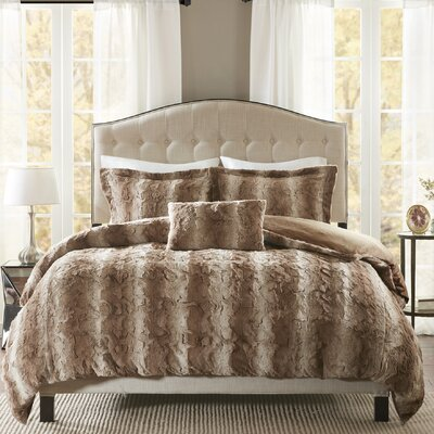 Atkins 4 Piece Duvet Set Size: Full/Queen, Color: Tan