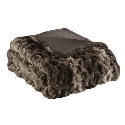 Elliott Fur Throw Color: Chocolate Stripe