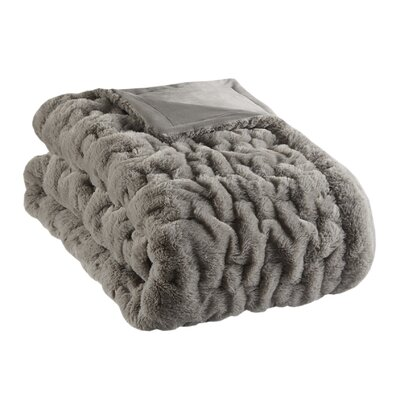 Bryant Fur Throw Color: Gray