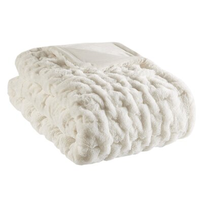 Bryant Fur Throw Color: Ivory