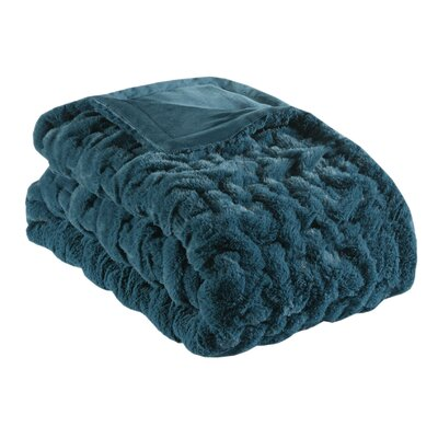 Bryant Fur Throw Color: Teal