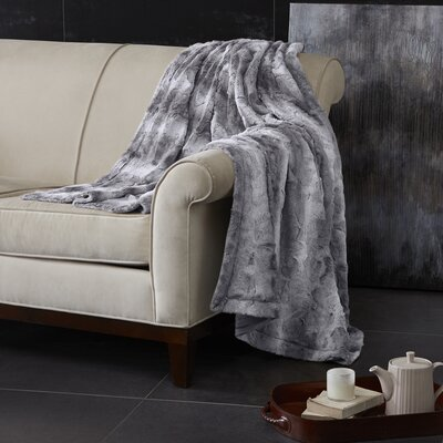 Atkins Oversized Bed Throw Color: Gray, Size: Twin
