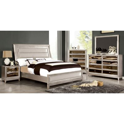 Seilles Upholstered Panel Bed Size: King