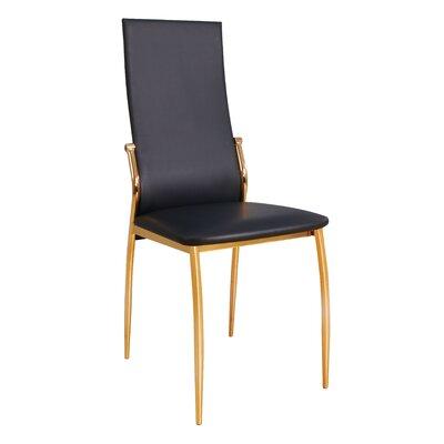Lucretia Side Chair Upholstery: Black