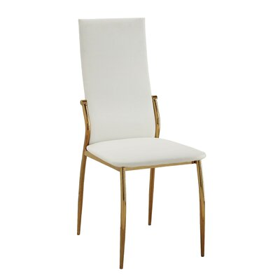 Lucretia Side Chair Upholstery: White