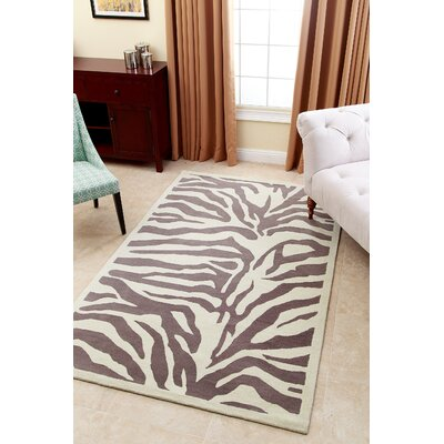 Malonne Hand-Tufted Light Grey Area Rug Rug Size: 5 x 8