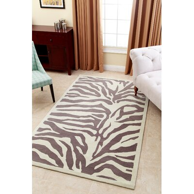 Malonne Hand-Tufted Light Grey Area Rug Rug Size: 3 x 5