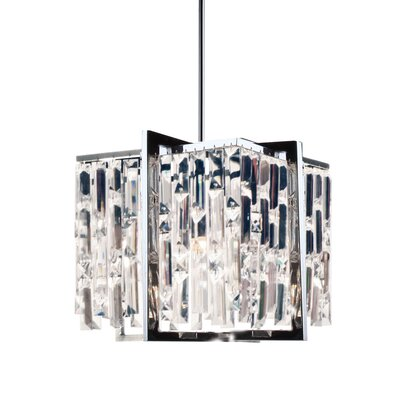 Faunia 4-Light Steel/Crystal Chandelier Size: 11 H x 12 W x 12 D